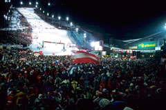 Events such as the night slalom in Schladming